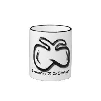 """¡tímpano de la difusión """"N"""" Yo del Mosca-logotipo! Taza De Café"""