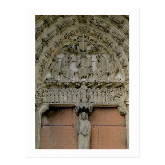 Tímpano porta del sur que representa w Enthroned Postal