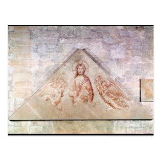 Tímpano que representa a Cristo el Redemptor Postales