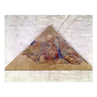 Tímpano que representa la bendición del salvador,  postal
