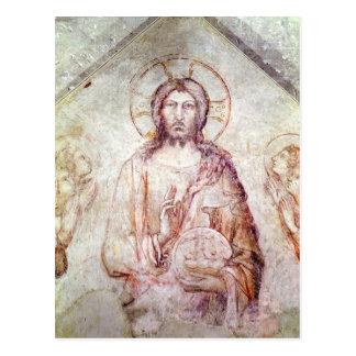 Tímpano que representa la bendición del salvador,  tarjetas postales