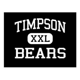 Timpson - Bears - High School - Timpson Texas Postcard