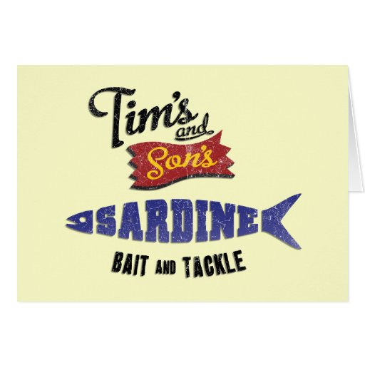 Tim's and Son's Sardine, Bait and Tackle Shop Greeting Card