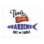 Tim's and Son's Sardine, Bait and Tackle Shop Post Card