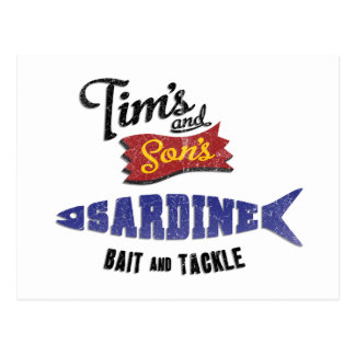 Tim's and Son's Sardine, Bait and Tackle Shop Postcard