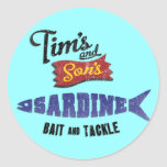 Tim's and Son's Sardine, Bait and Tackle Shop Sticker
