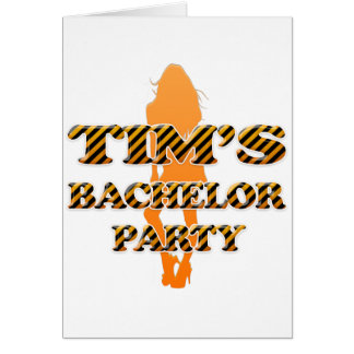 Tim's Bachelor Party Card