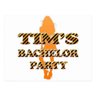 Tim's Bachelor Party Postcard