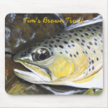 Tim's Brown Trout Mouse Pad