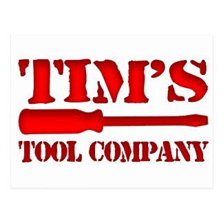Tim's Tool Company Postcard