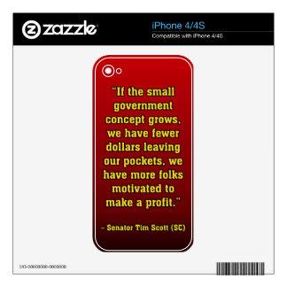 TIMSCOTT SMALLER GOVT iPhone 4 SKINS