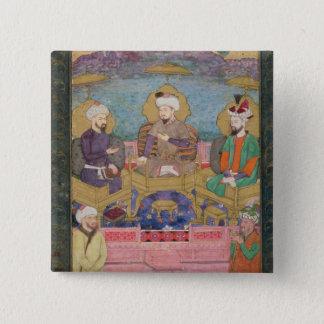 Timur (1336-1405), Babur (1483-1530, r.1526-30) an Button