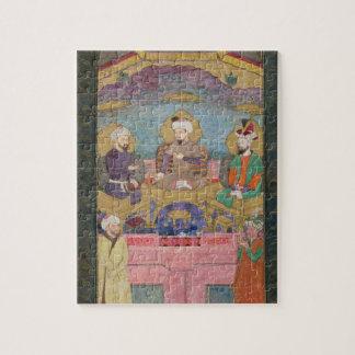 Timur (1336-1405), Babur (1483-1530, r.1526-30) an Jigsaw Puzzle
