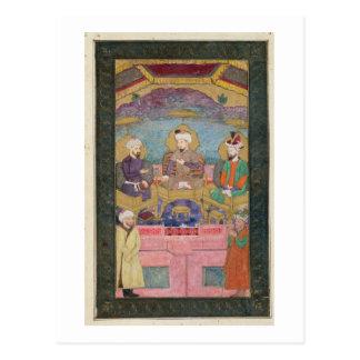 Timur (1336-1405), Babur (1483-1530, r.1526-30) an Postcard