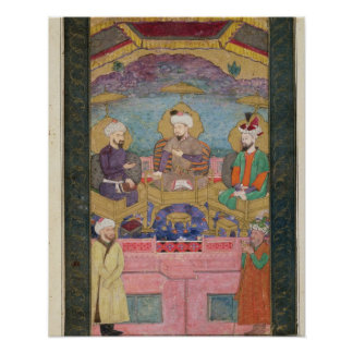 Timur (1336-1405), Babur (1483-1530, r.1526-30) an Poster