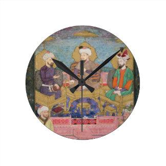 Timur (1336-1405), Babur (1483-1530, r.1526-30) an Round Clock