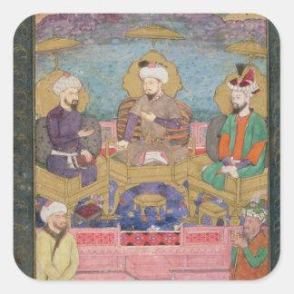 Timur (1336-1405), Babur (1483-1530, r.1526-30) an Square Sticker