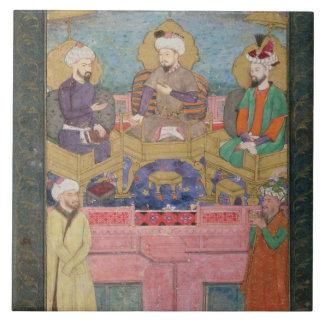 Timur (1336-1405), Babur (1483-1530, r.1526-30) an Tile
