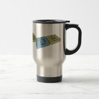 Tin as Ti Titanium and N Nitrogen 15 Oz Stainless Steel Travel Mug