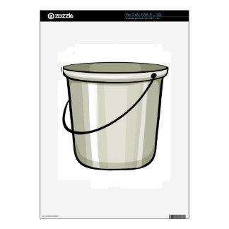Tin bucket iPad 2 decal