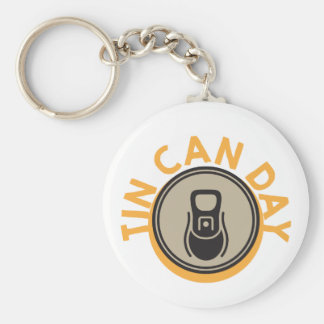 Tin Can Day - Appreciation Day Keychain