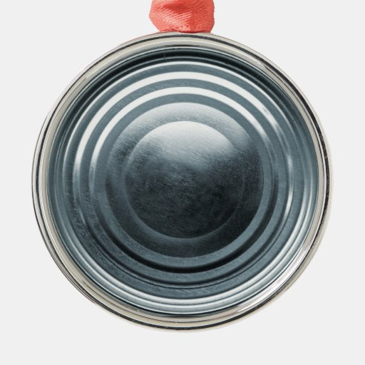 Tin Can Lid Metal Ornament
