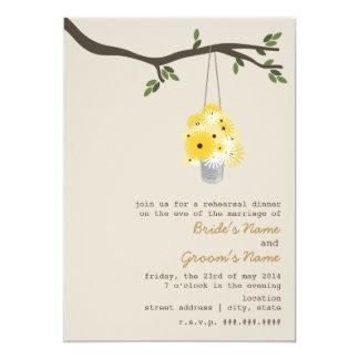 Tin Can Of Wildflowers Rehearsal Wedding Card