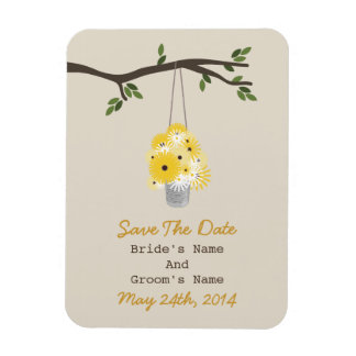 Tin Can Of Wildflowers Wedding Save The Date Magnet