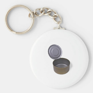 tin can, open and empty keychain