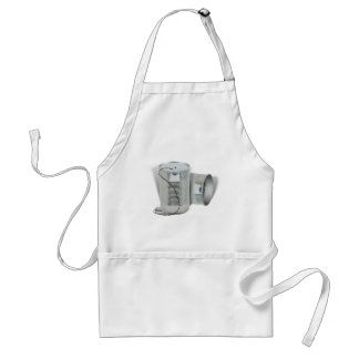 Tin Can Phone (Can you hear me NOW?) Adult Apron