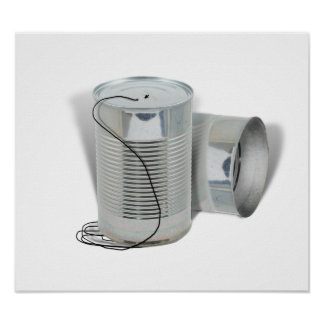 Tin Can Phone (Can you hear me NOW?) Print