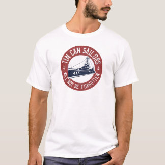 Tin Can T-Shirt - Red, White and Blue