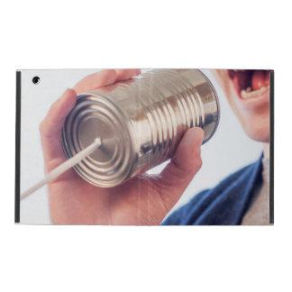 Tin can telephone iPad folio case