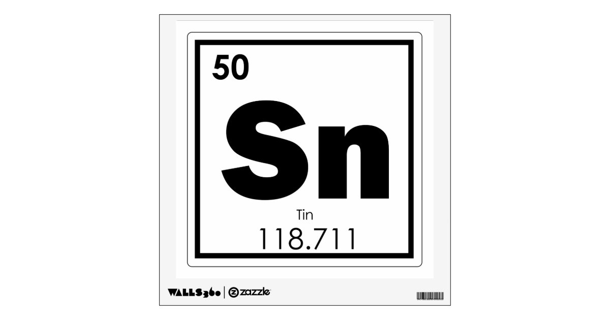 Tin Chemical Element Symbol Chemistry Formula Geek Wall Sticker