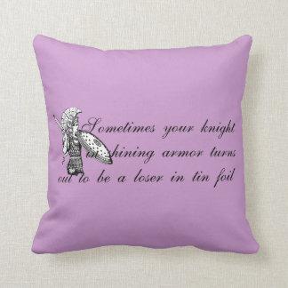 Tin Foil Prince Throw Pillows