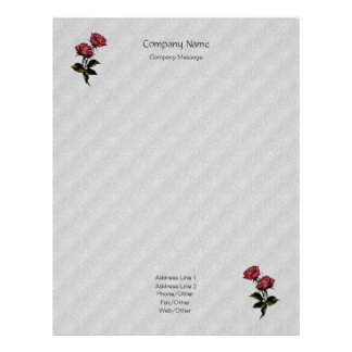 Tin Foil Wolves Roses Stationery Letterhead