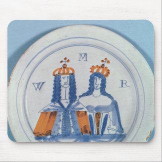 Tin-glazed earthenware plate, Lambeth, c.1689 Mouse Pad
