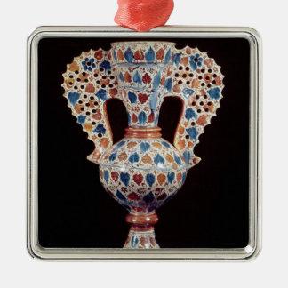 Tin-glazed vase with lustre decoration