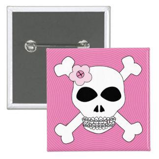 Tin Grin Skull and Crossbones Pins