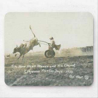 Tin Horn Hank Keenan and his chariot. Mouse Pad