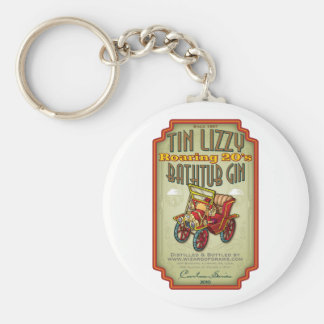 Tin Lizzy Bathtub Gin Keychain