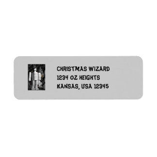 Tin Man at Christmas Address Label