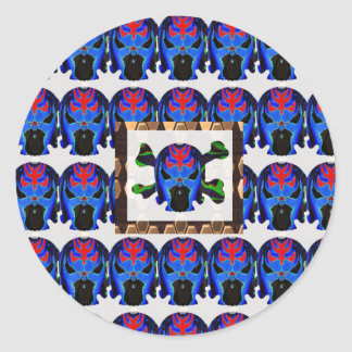 TIN Man BLUE - Ghost Skull Halloween FUN KIDS Gift Classic Round Sticker