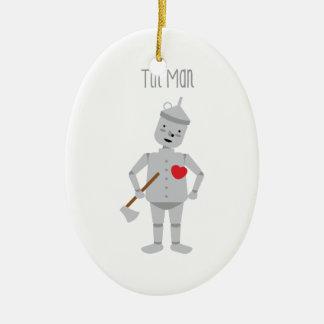 Tin Man Ceramic Ornament