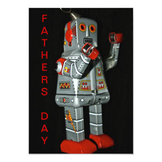 Tin Robot Fathers Day Card