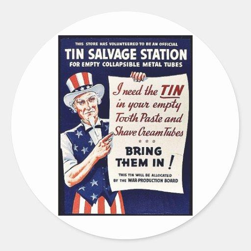 Tin Salvage Station Sticker