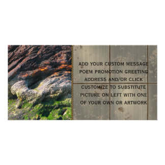 Tin Slag Mountain Personalized Photo Card