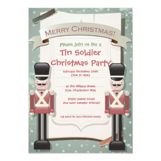Tin Soldier and the Christmas Party invitation