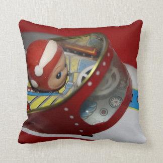 Tin Space Rocket American Mojo Pillow/Cushion Throw Pillow