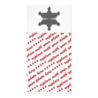 Tin Star Sheriff Photo Greeting Card